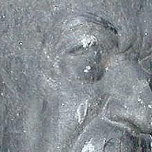 Carl Milles, byst Carl Swartz, svart granit, h = 2,30 m, 1916